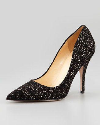 df23c25b089e Kate Spade New York Licorice Gold Fleck Suede Pump Black Gold Kate Spade