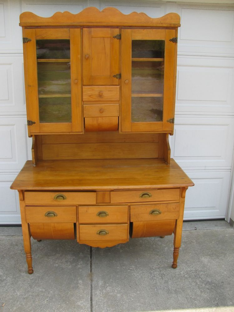 early antique pin cherry cabinet primitive cabinets style bakers possum hoosier belly kitchen