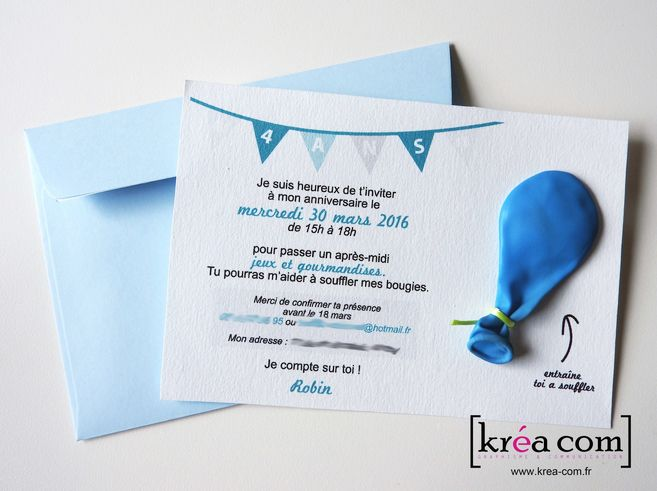 Invitation Anniversaire 4 Ans