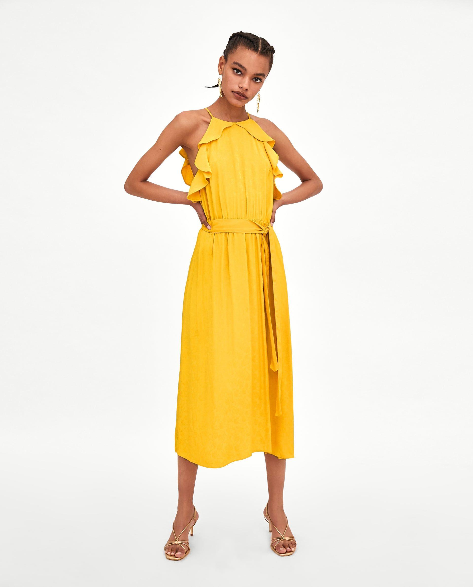 936f68bf1 ZARA - FEMME - ROBE LONGUE EN JACQUARD Vestidos Largos