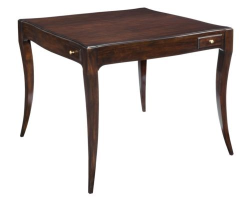Charmant NEW GAME TABLE ADDISON EBONIZED MAHOGANY FINISH MAHOGANY