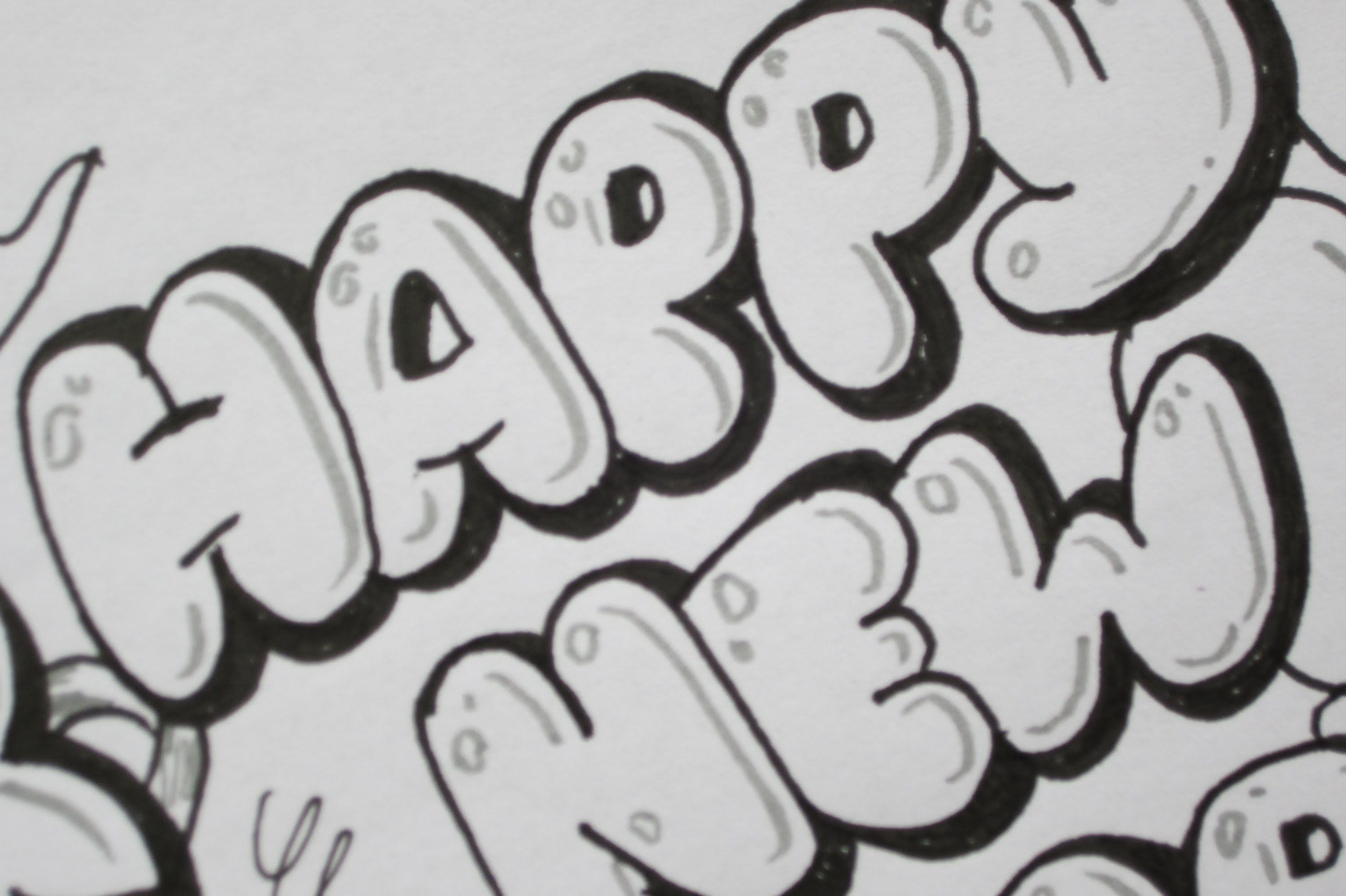 How To Write Happy New Year In Bubble Letters Easy Drawings Happy New Year Letter Lettering