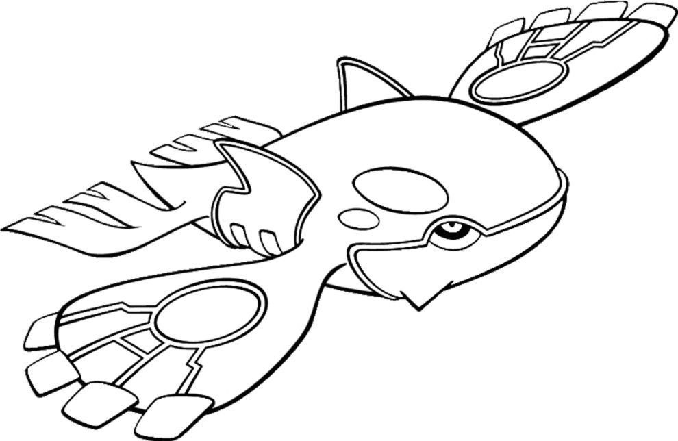 Kyogre Coloring Page Jpg 990 644 With Images Pokemon