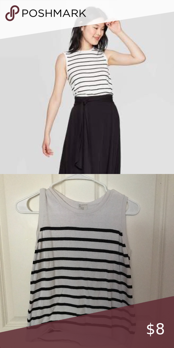 a new day striped sleeveless sweater