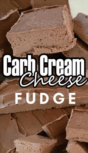 Incredibly Delicious Low Carb Cream Cheese Fudge - Best Weight Loss Program #lowcarbeating