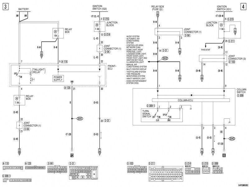 Mitsubishi Montero Sport Fuse Box Diagram
