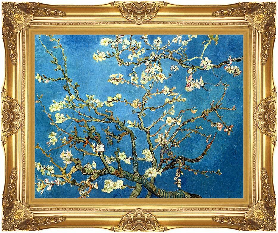 Vincent Van Gogh Almond Blossom With Majestic Gold Frame