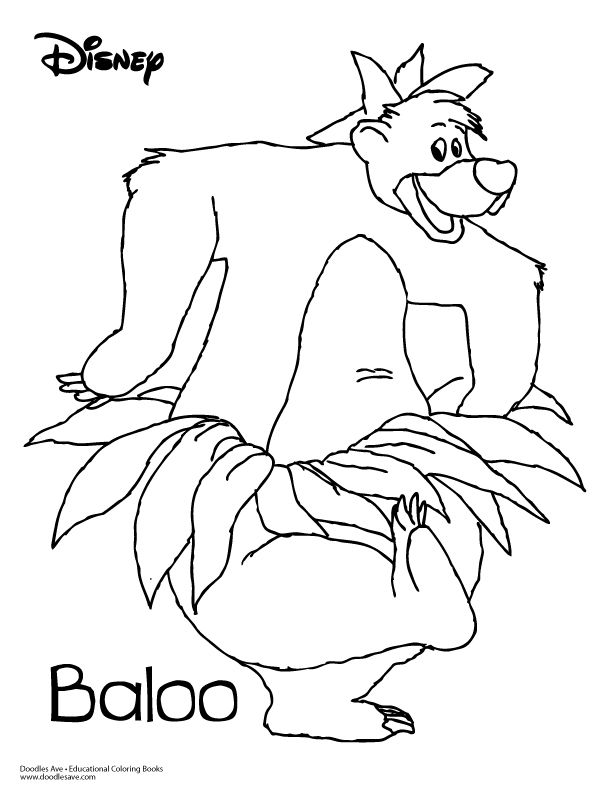 doodles-ave-jungl-book-baloo | Projects to try | Pinterest