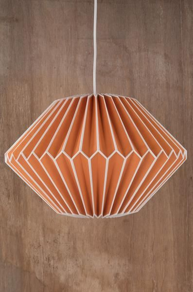 Orange paper lampshade lighting lamps pinterest paper lampshade mozeypictures Image collections
