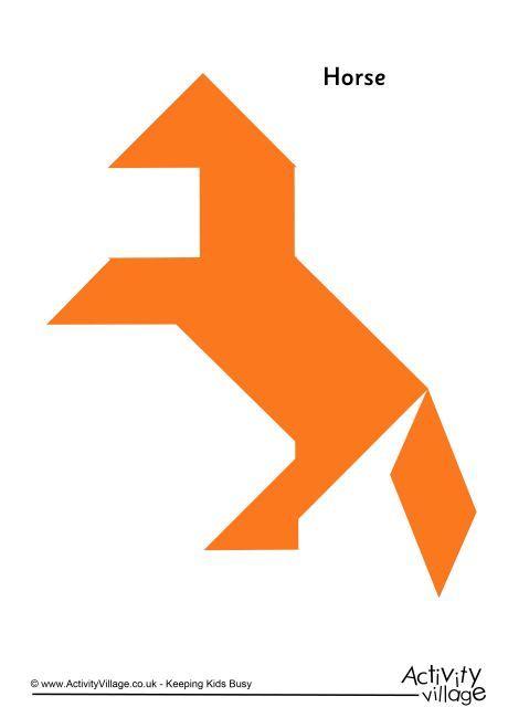 tangram pattern horse