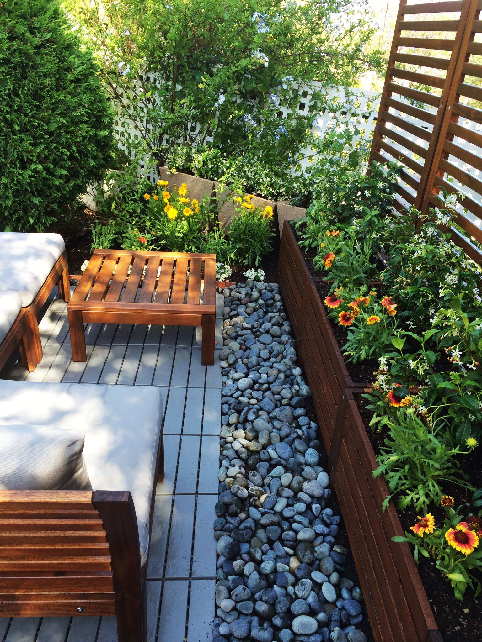 a small seating area created with applaro pieces from ikea. | patio