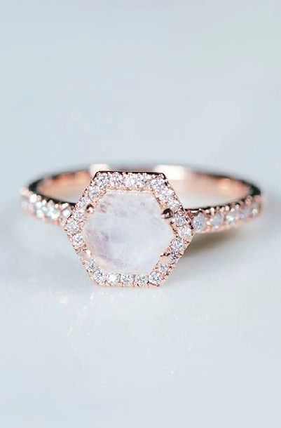 Moonstone Engagement Ring Wedding Rings Simple Wedding