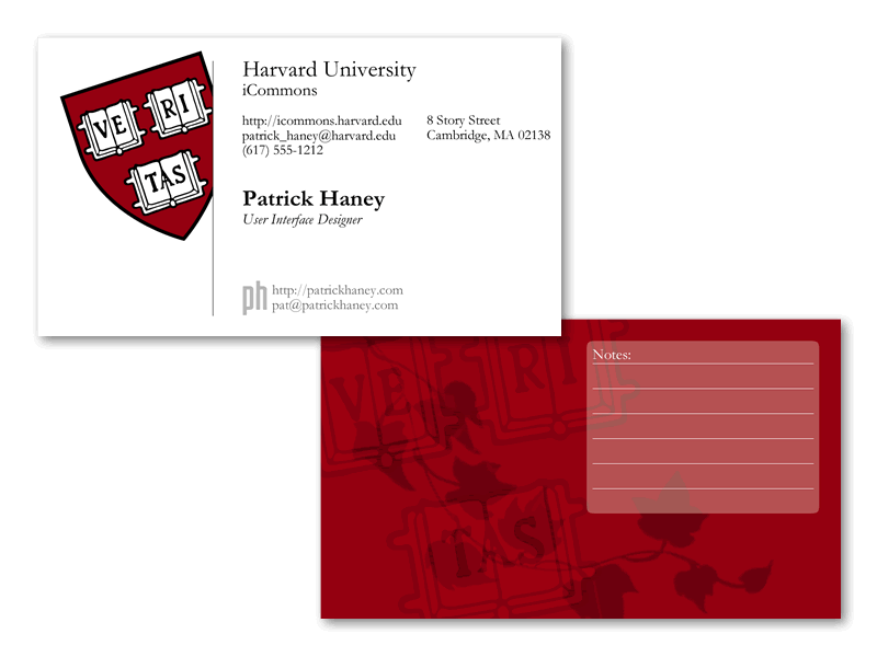 Harvard Business Card Mockup by splat | business card | Pinterest