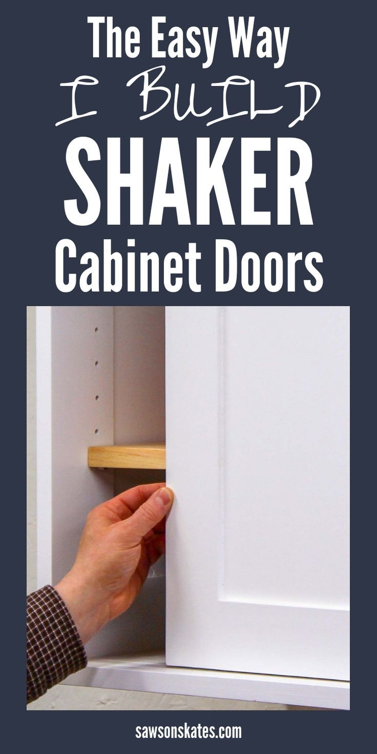 How To Build Diy Shaker Cabinet Doors Easy Saws On Skates Shaker Cabinet Doors Diy Cabinet Doors Diy Furniture Plans