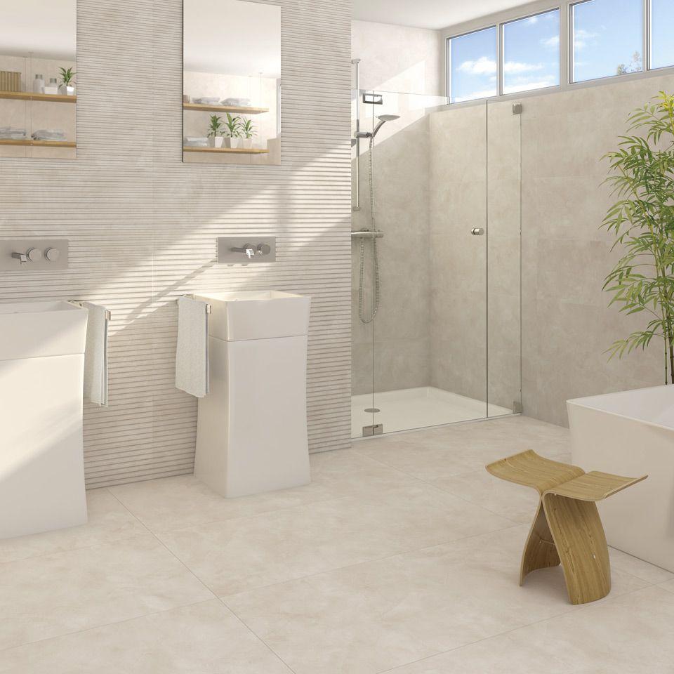 Neutral bathroom tiles - Neutral Bathroom Rollins 3d Effect Wall Tiles Arcana Tiles Arcana Ceramica Revestimiento