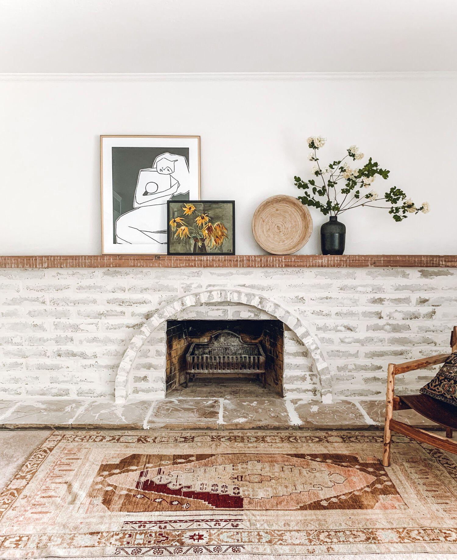 100 DIY Fireplace makeover using Mortar — REBECCA