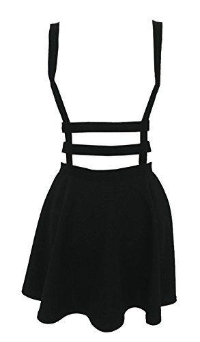 Womens Preppy Ruffle Pull-on Gallus Skirt - http://www.darrenblogs.com/2017/01/womens-preppy-ruffle-pull-on-gallus-skirt/