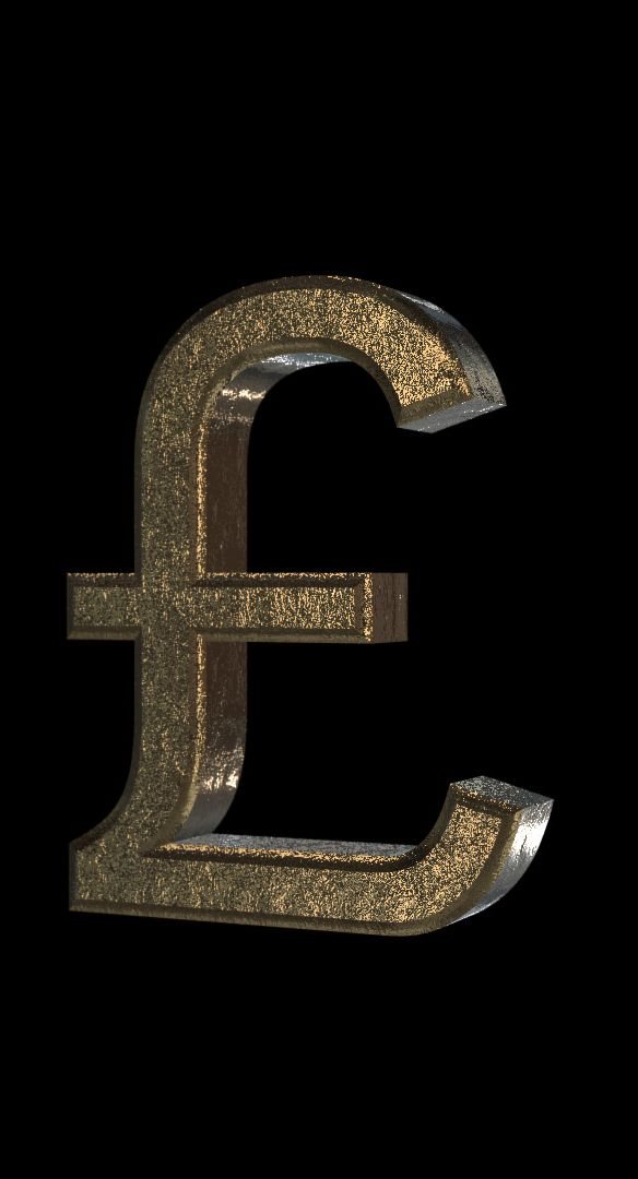 3d Poundcurrency Symbol Seamless Loop Royaltyfree Ultra Hd