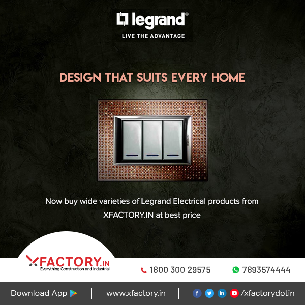 Now buy wide varieties of Legrand Electricals products