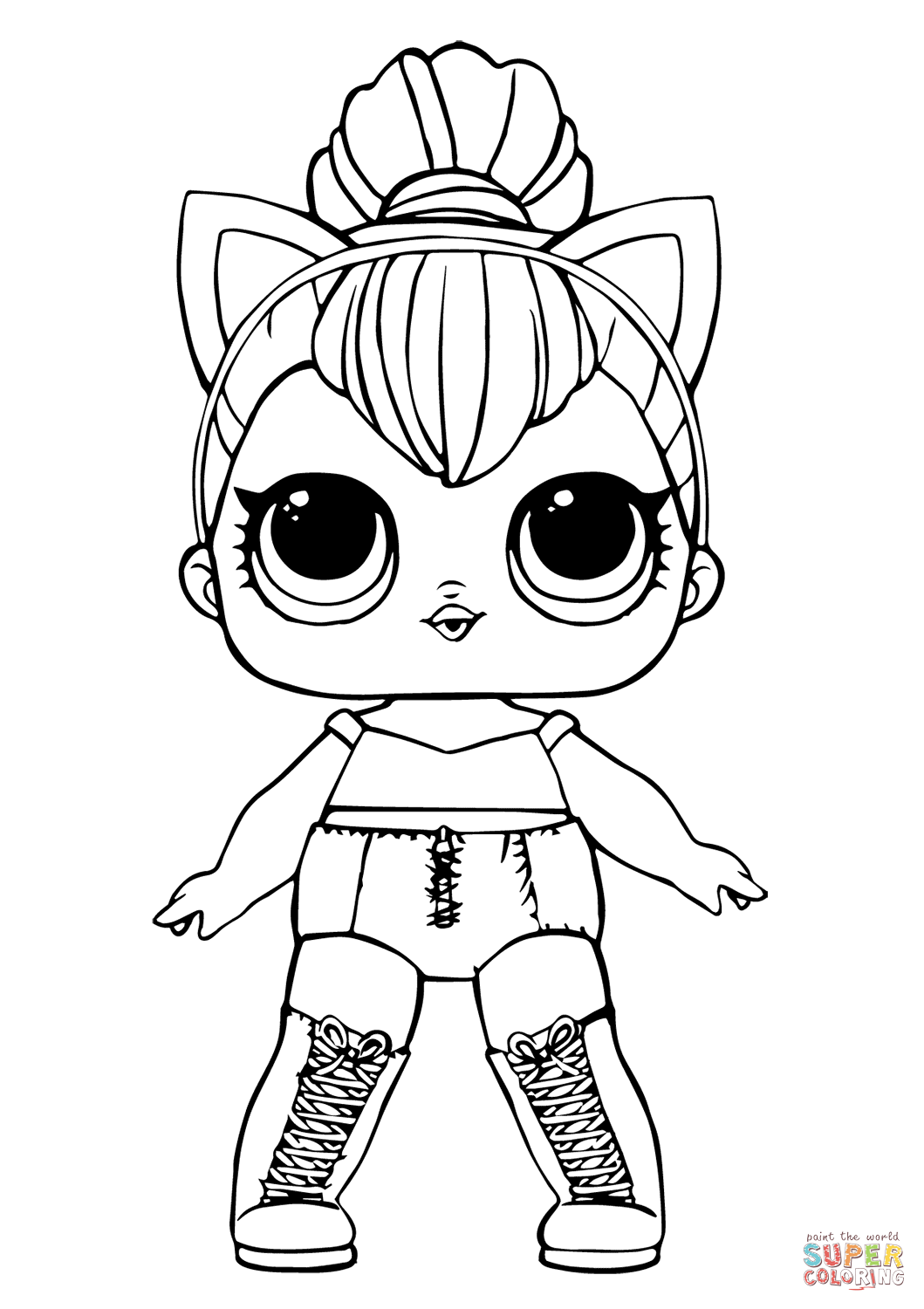 Lol Doll Kitty Queen Super Coloring In 2020 Unicorn Coloring Pages Cool Coloring Pages Cat Coloring Page