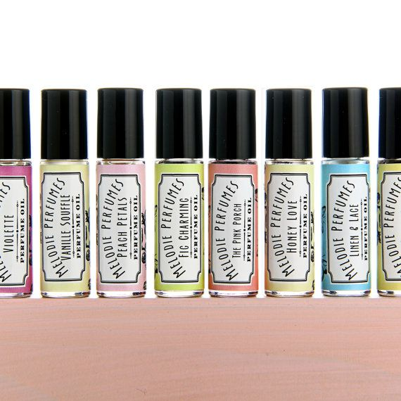 Vanilla, Violet, Pink Grapefruit, Tuberose, Peach, Honey, Fig perfume oil - Choose one. Melodie Perfumes. Free shipping USA