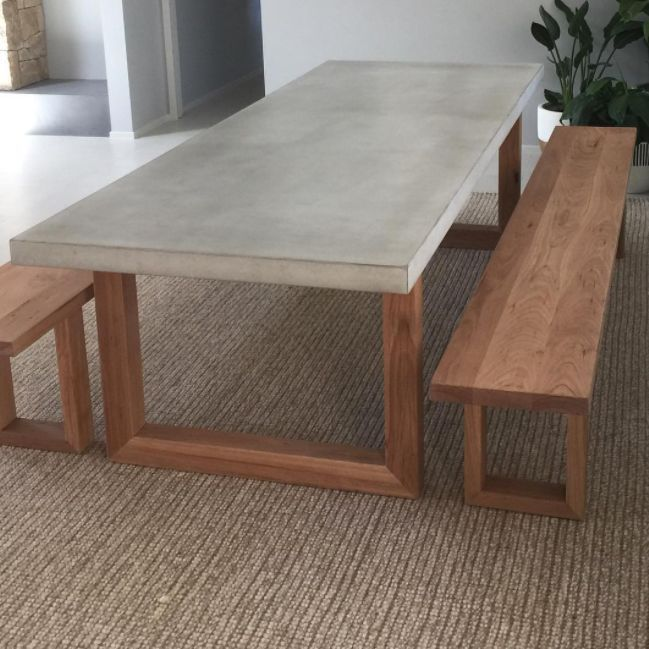 Blackbutt Table Base And Bench Seats Collaboration With