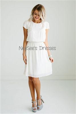 Ivory Modest Dress
