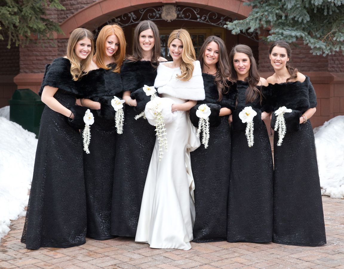 10 gorgeous bridesmaid dresses for chic winter weddings black 10 gorgeous bridesmaid dresses for chic winter weddings ombrellifo Choice Image