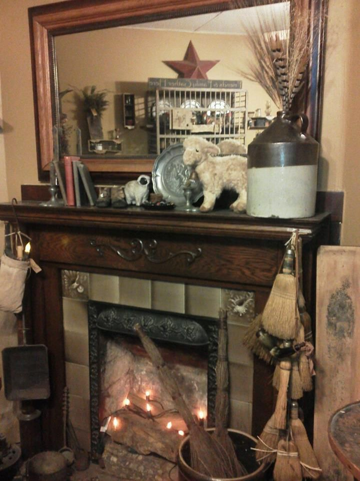 my fireplace in my dinning room....<3