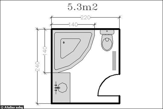 V ce ne 20 nejlep ch n pad na t ma douche d angle na pinterestu wc d ang - Plan salle de bain 6m2 ...