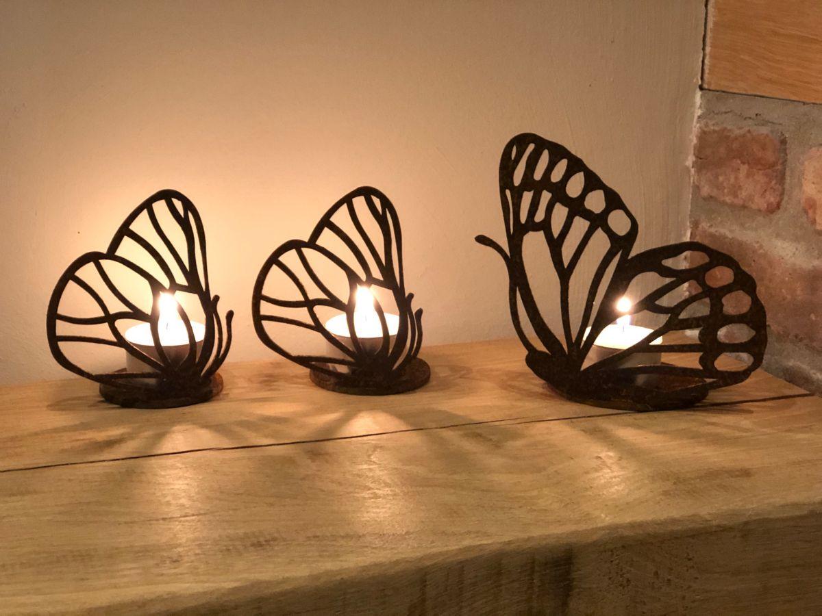 Vlinders Cortenstaal Tuindecoratie Vlinders Metaal Tuin Decoratie