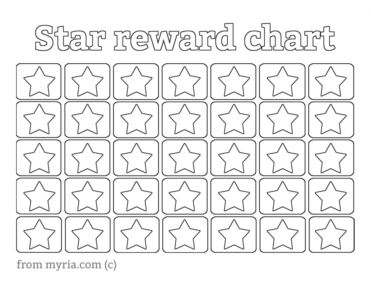 Blank Reward Chart Template