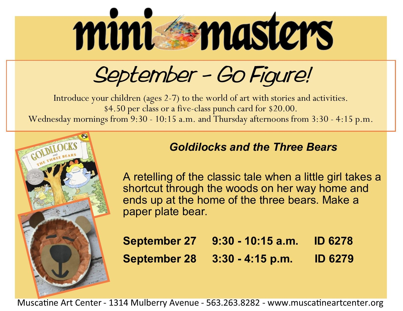 Introduce your children (ages 2-7) to the world of art with