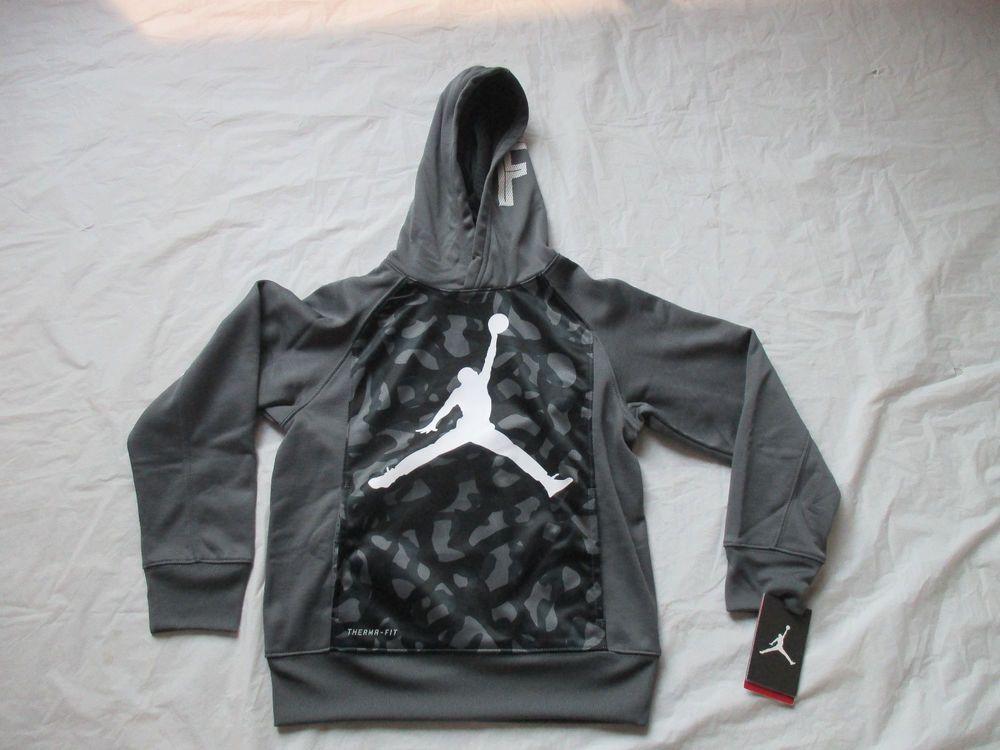 Nike Jordan Jumpman Athletic Sweatshirt Hoodie Dark Grey