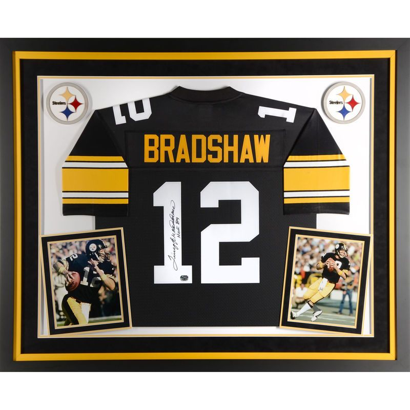 best website e7b6d 34dae Terry Bradshaw Pittsburgh Steelers Fanatics Authentic Deluxe ...