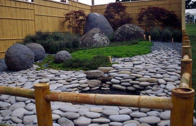 japangarten ideen teich moos landschaft bambus gartenzaun, Gartenarbeit ideen