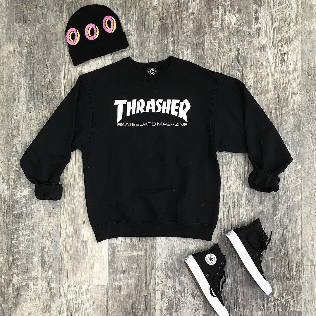 Thrasher Thursday Thrasher Crewneck Medium Sold Odd Future Hat 8 Converse Size 6 30 Https Www Sweatshirts Graphic Sweatshirt Plato Closet [ 1080 x 1080 Pixel ]