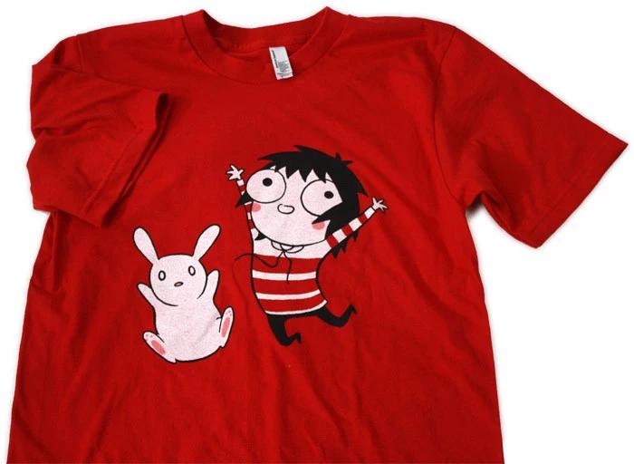 Sarah's Scribbles Jumpin' Shirt (Red)
