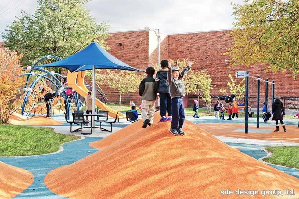 Mellin Park Playground Chicago Mellinpark Chicagoparkdistrict Playground Playground Design Chicago Landscape Park Playground