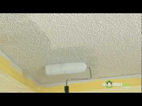 using a thick nap roller brush to paint Textured Ceiling Tips