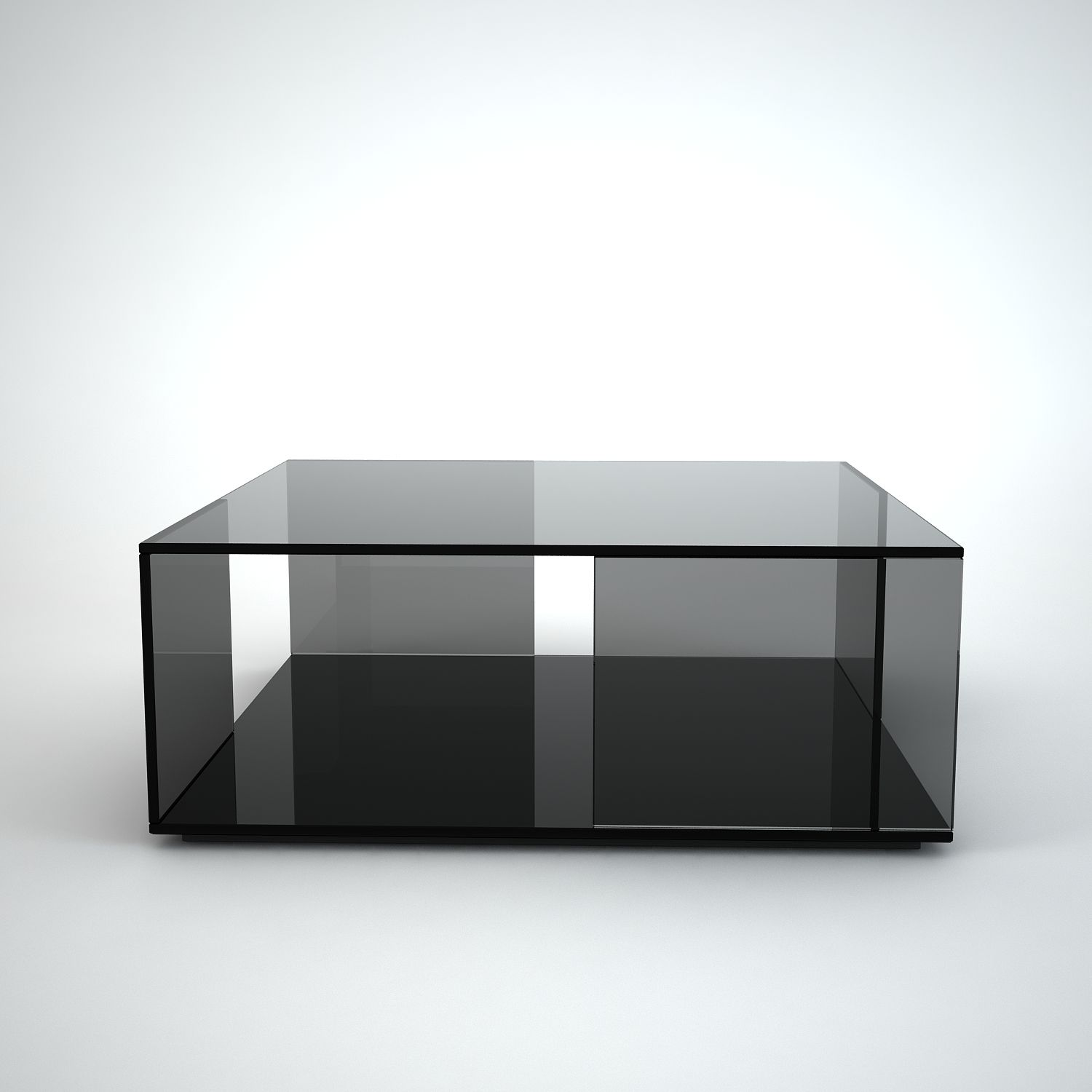 Tifino Square Grey Tint Gl Coffee Table By Klarity