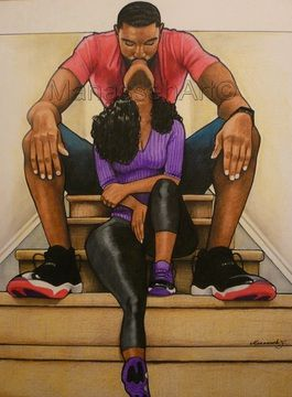Love this from  Manesseh Art #blacklove #beautiful