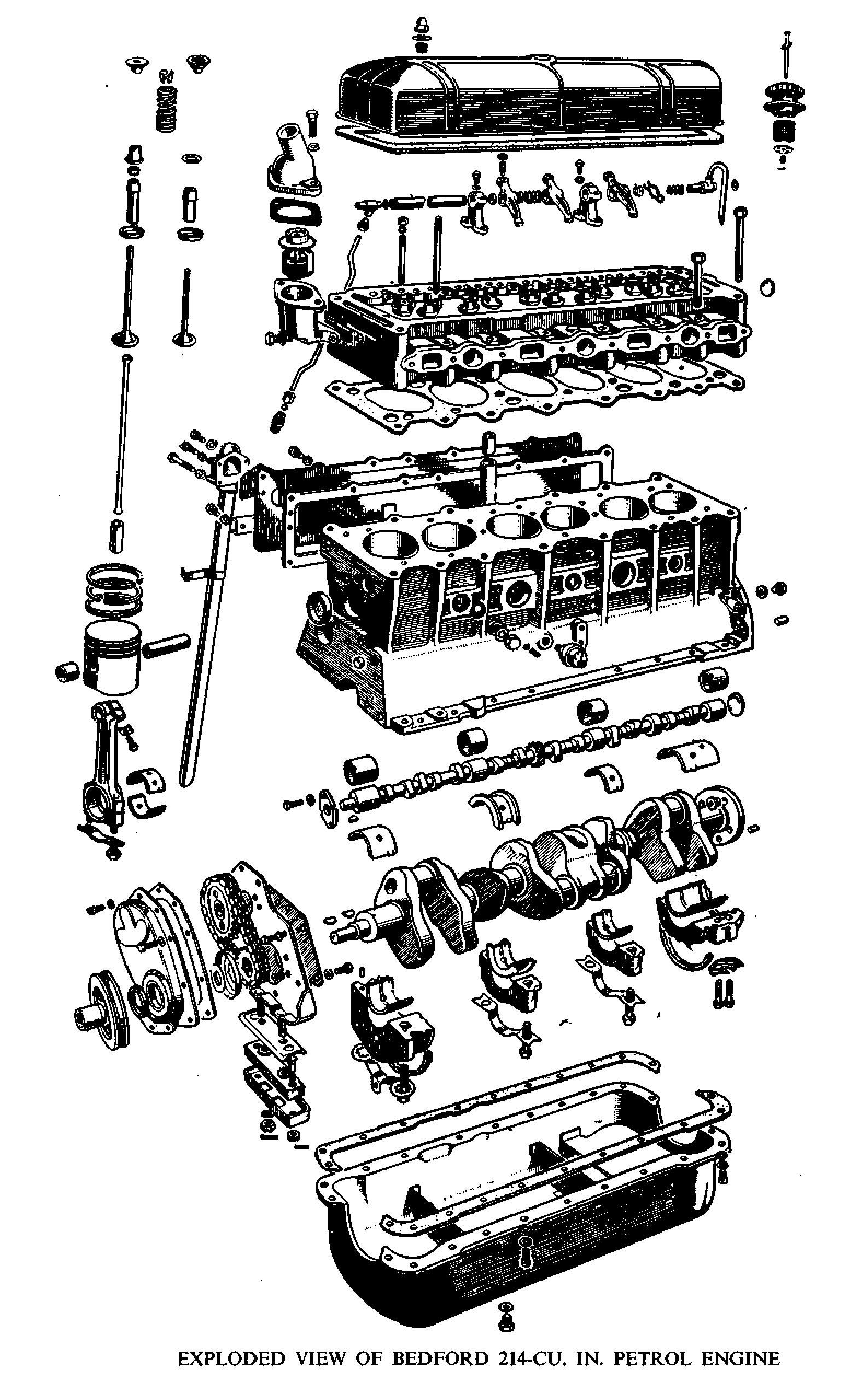 The 214 c.in engine common in many Bedford trucks
