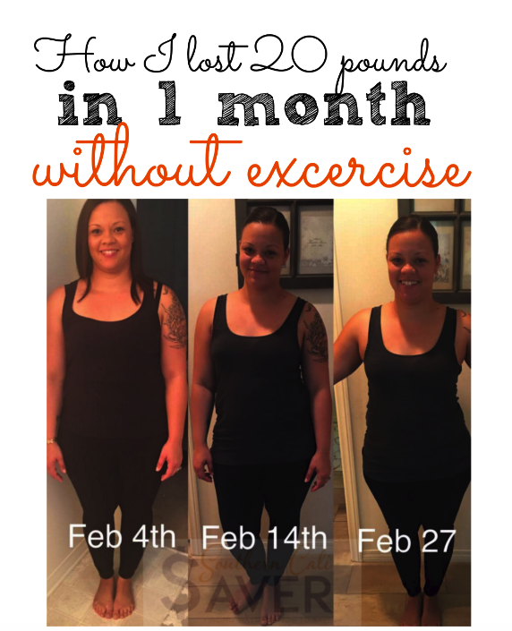 How I Lost 20 Lbs In A Month Without Exercise
