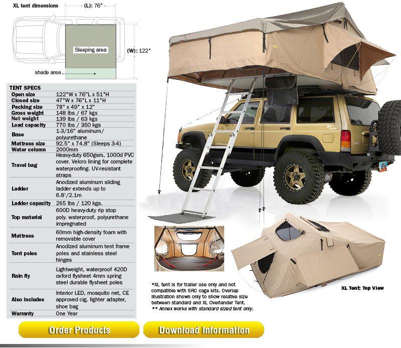 XL Overlander Tent #2883 //.smittybilt.com/overlander  sc 1 st  Pinterest & XL Overlander Tent #2883 http://www.smittybilt.com/overlander-tent ...