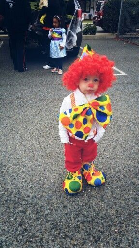 Adorable Clown Halloween Costume Idea ForToddler Boy.