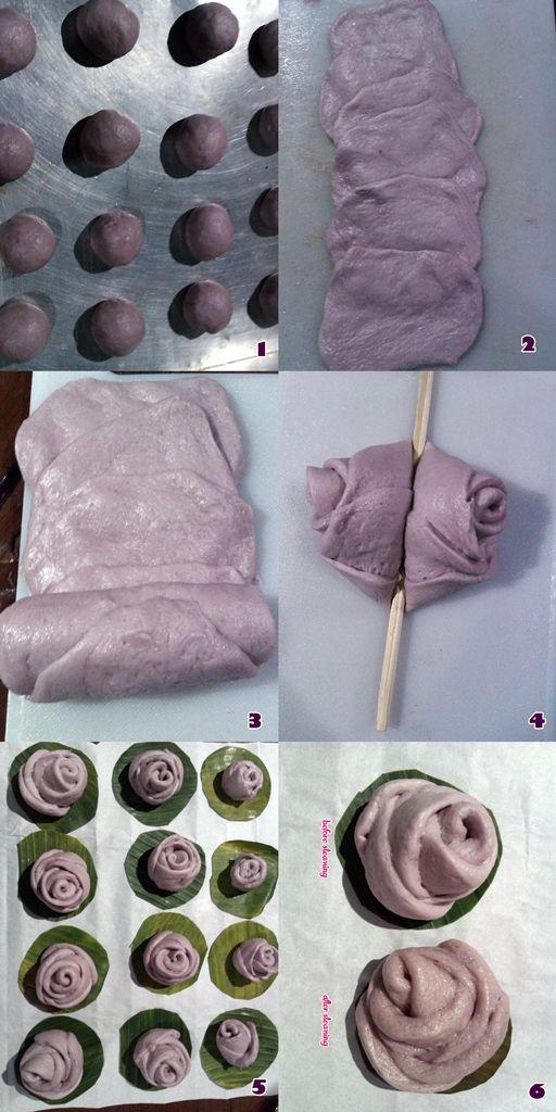 How to make rose mantou