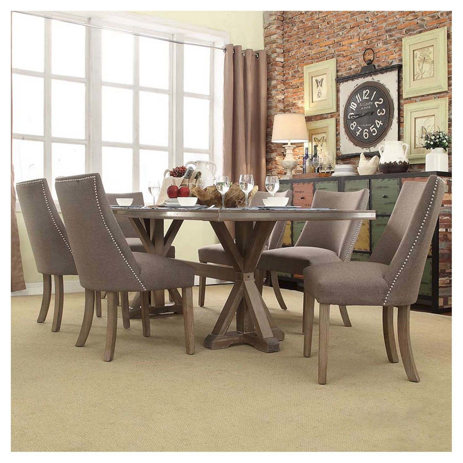 Portland pc dining set inspire q dining sets linens and bench seat