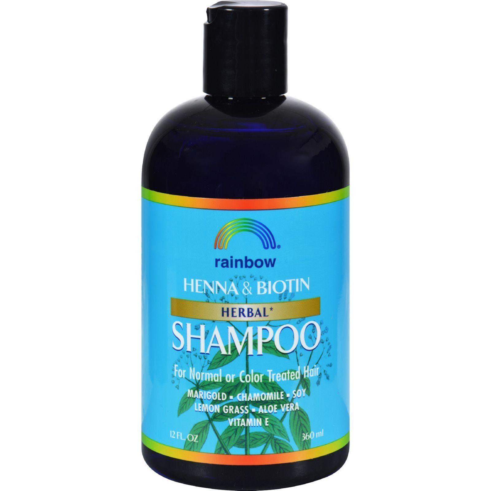 Rainbow Research Organic Herbal Henna Boitin Shampoo - 12 Fl Oz