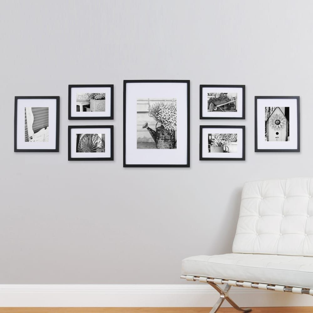 Gallery perfect 7 piece frame set photo wall foyers and walls group of frames from kohls gallery wall jeuxipadfo Gallery